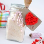 Valentine's Day Mini Pom Pom Heart Gift Tag