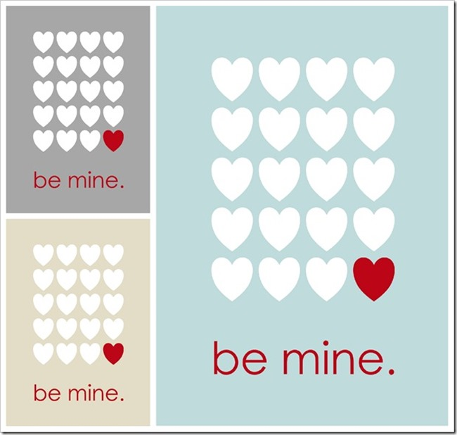 Valentine's Day Printable - Be Mine - Sprik Space