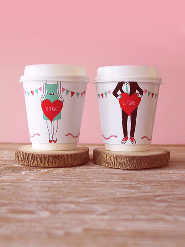 Valentine's Day Printables - cup wrappers