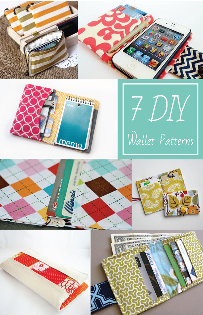 Sew A Simple Book Cover ~ Diy wallet patterns everythingetsy