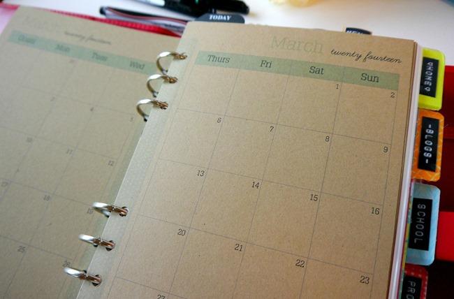 filofax calendar