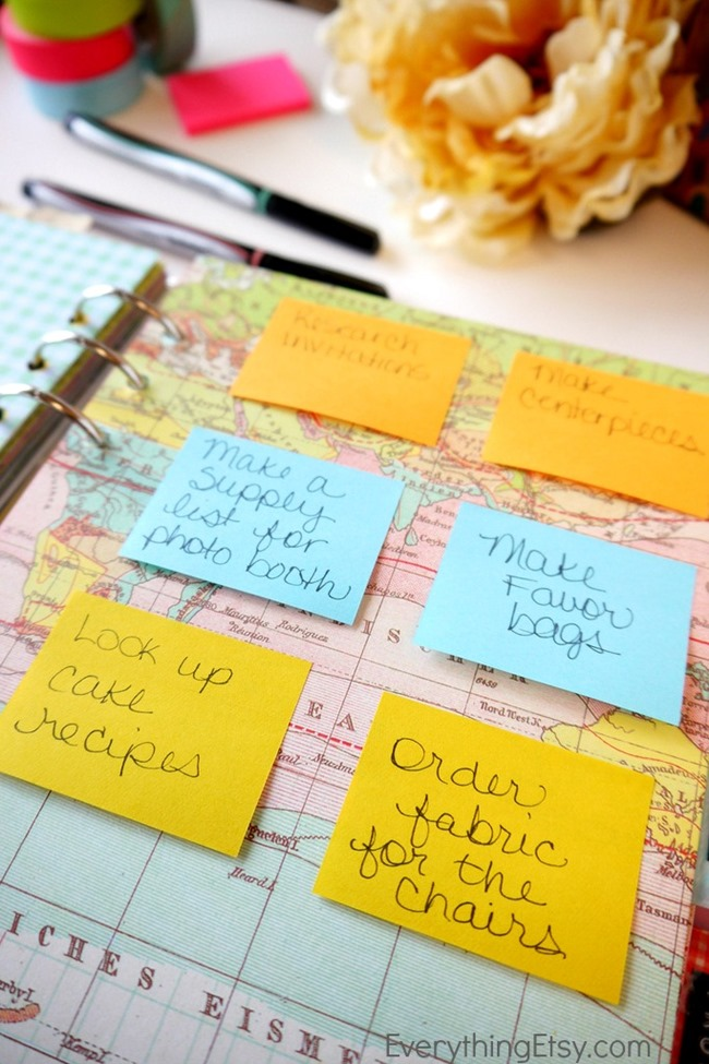 filofax - sticky notes