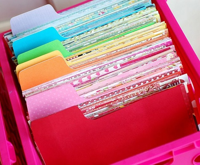 scrapbook organization ideas for the new year!