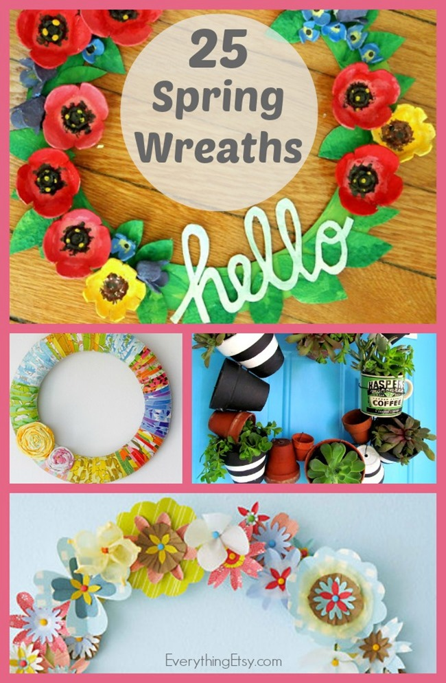 25 Spring Wreaths - DIY Decor on EverythingEtsy.com