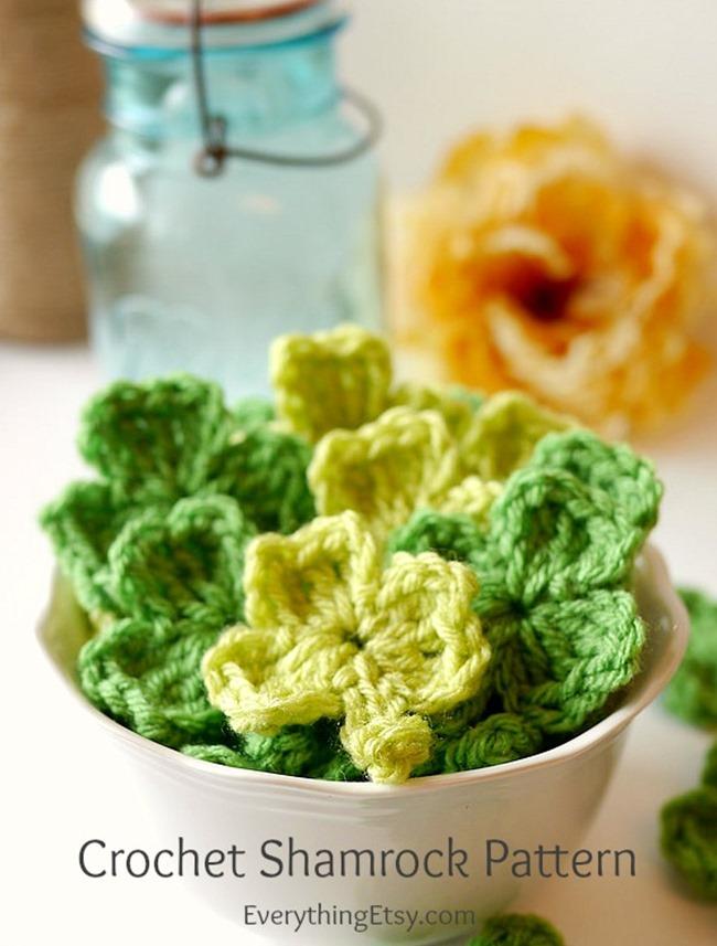 Crochet Shamrock Pattern Video Everythingetsy