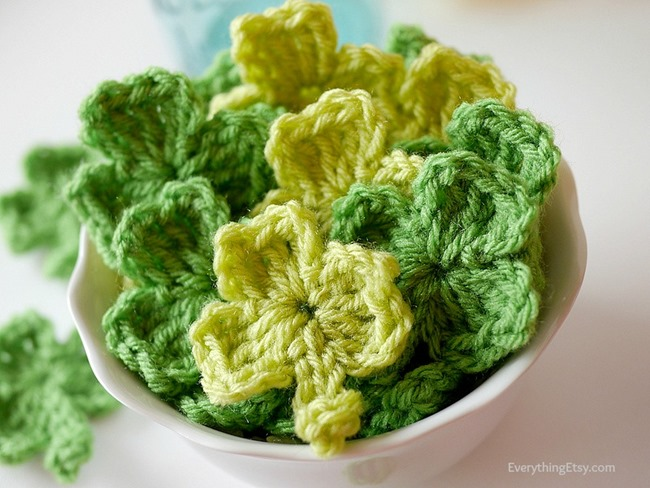 Crochet Shamrock Tutorial l EverythingEtsy.com