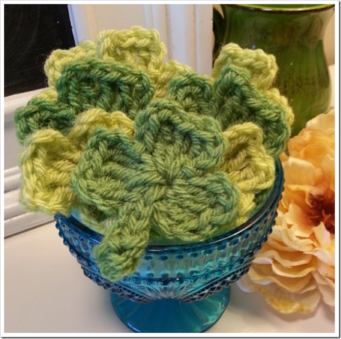 Everything Etsy Instagram - Crochet Shamrocks
