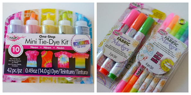 My tote bag supplies - Tulip Dye