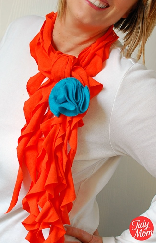 Spring T-Shirt Scarf Tutorial - Tidy Mom