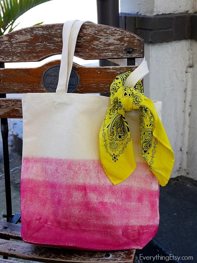 Spring Tote Bag Tutorial on EverythingEtsy.com