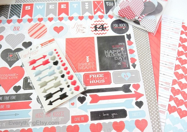 Valentine's Day Card Supplies - EverythingEtsy.com