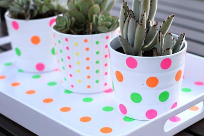 neon flower pots