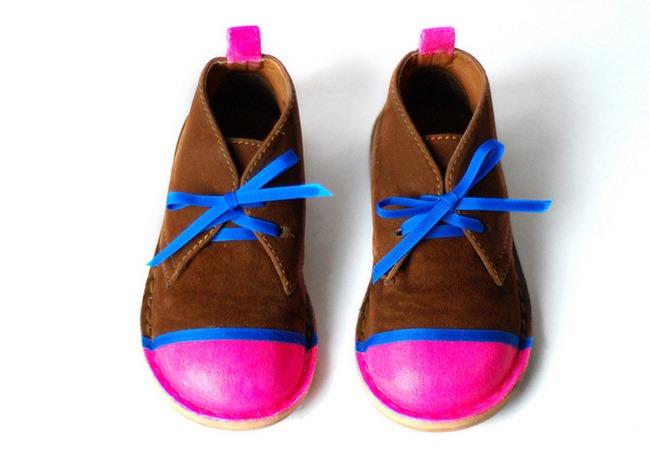 neon shoes diy