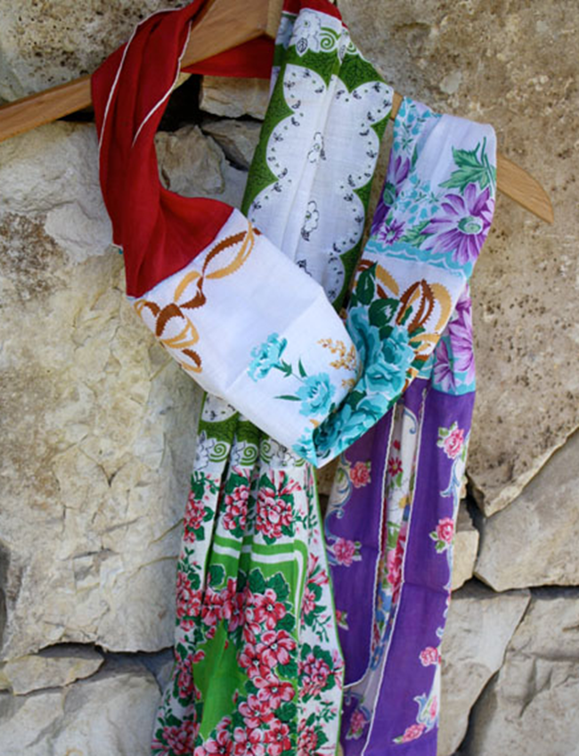 spring scarf - skip to my lou