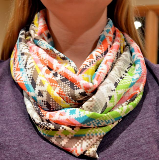 spring scarf tutorial