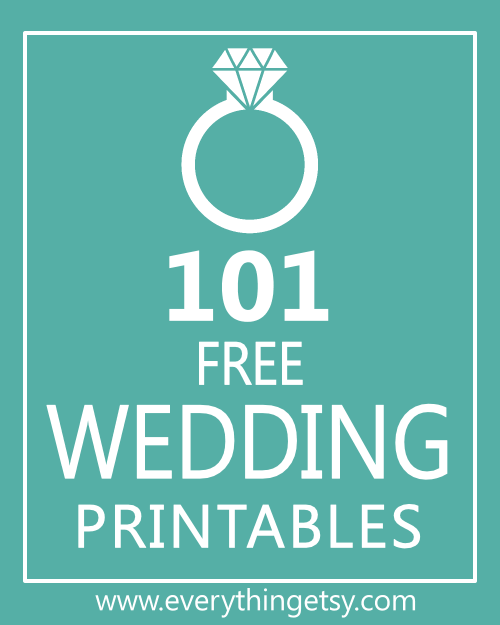 Printable Wedding Gift Card Free : ... dollars? These 101 free wedding printable will make you extra happy
