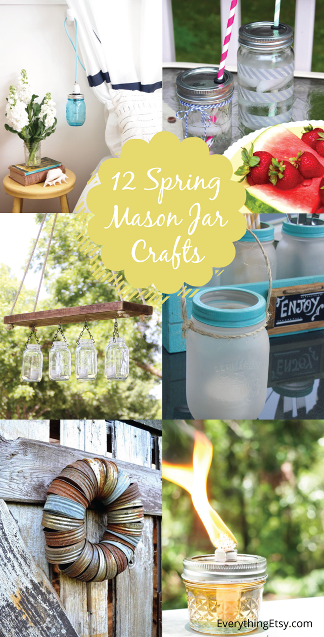 12 Spring Mason Jar Crafts l EverythingEtsy