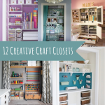 12 Creative Craft Closets {amazing ideas}