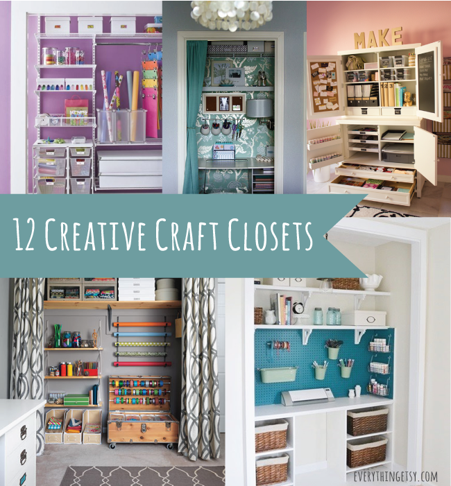 12 Creative Craft Closets Amazing Ideas