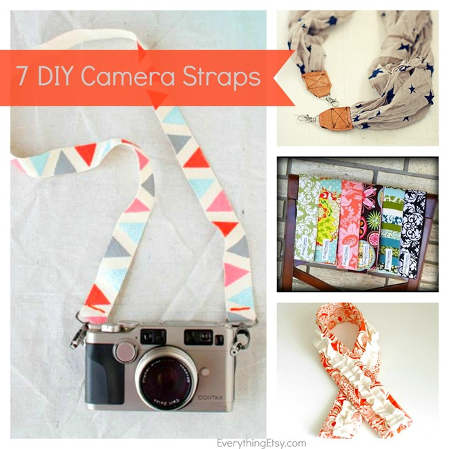 7 DIY Camera Strap Tutorials...simple to make! l EverythingEtsy.com