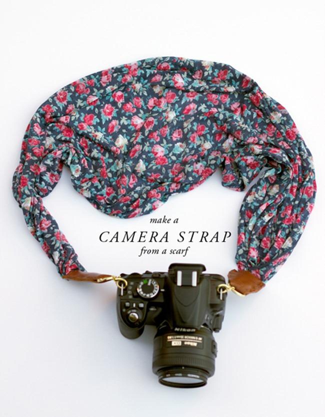 DIY Camera Strap - Scarf