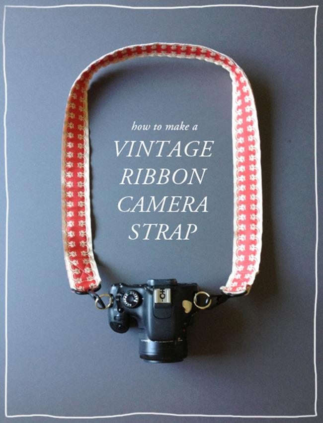 DIY Camera Strap Tutorial - Vintage