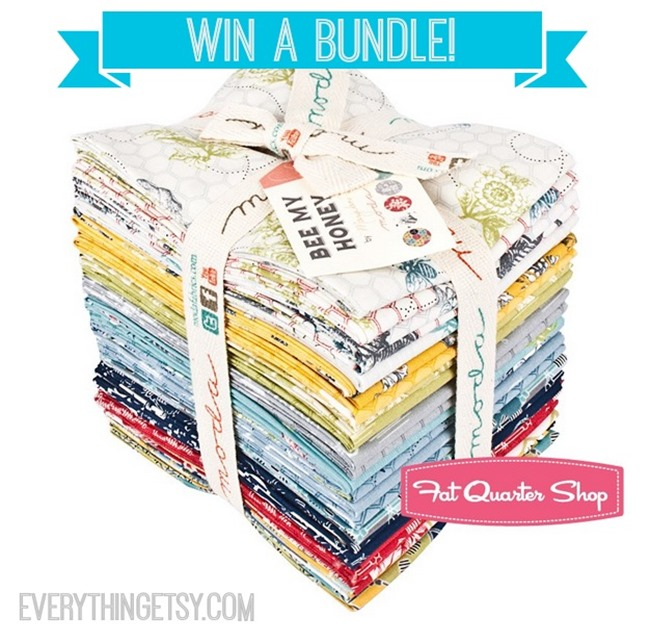 Fabric Giveaway! Win a bundle of designer fabric from @FatQuarterShop and @EverythingEtsy - Visit EverythingEtsy.com to enter!