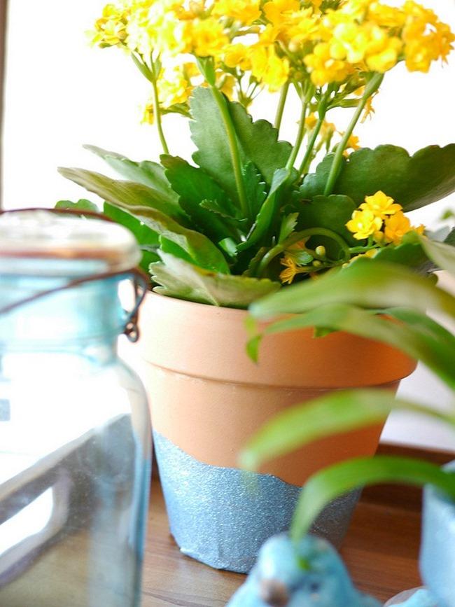 Spring Bling Flower Pot - EverythingEtsy.com