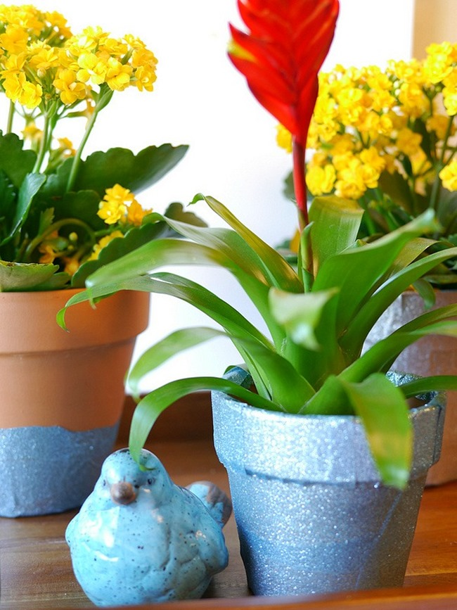 Spring Bling Flower Pot Tutorial - Duck Tape - EverythingEtsy.com