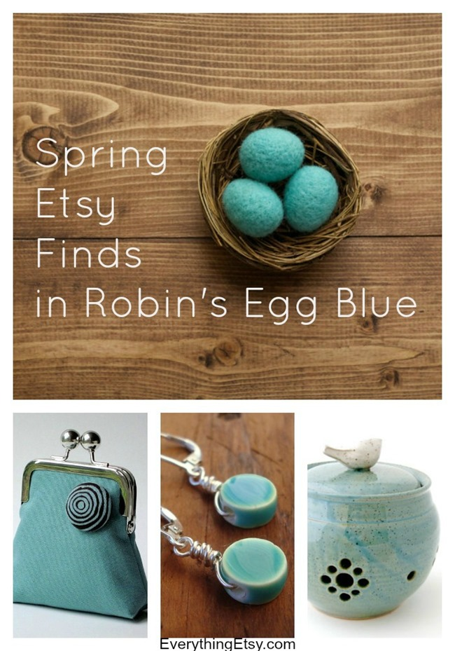 Spring Etsy Finds in Robin's Egg Blue l EverythingEtsy.com