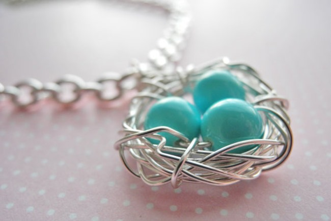 robin egg necklace