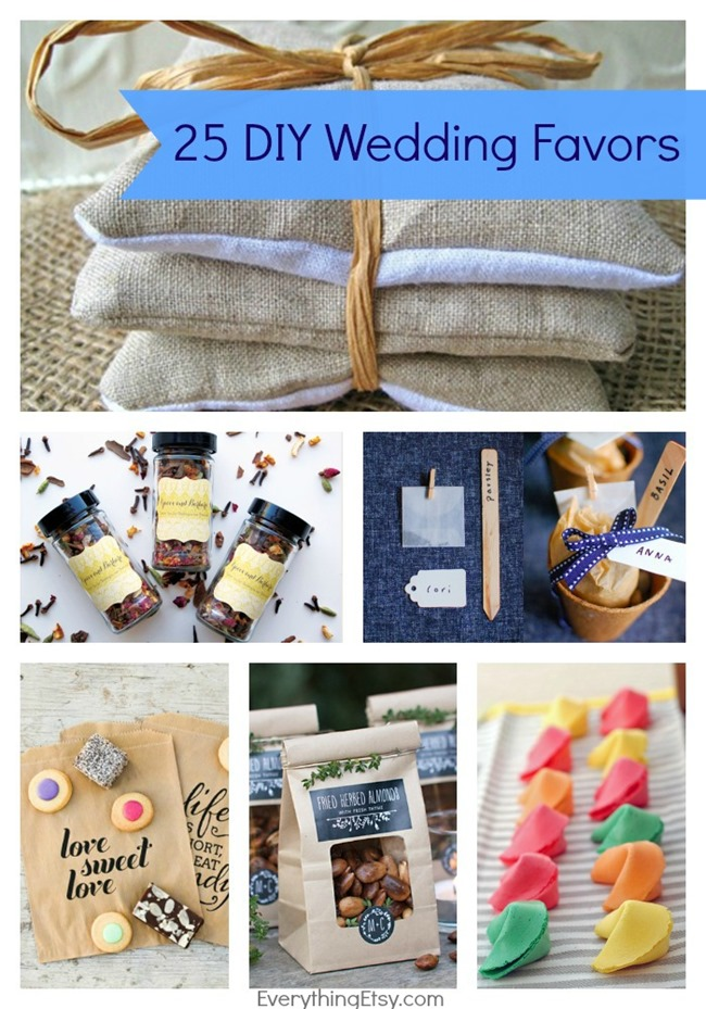25 DIY Wedding Favors l Handmade Wedding Ideas on EverythingEtsy.com