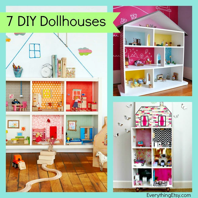 7 DIY Dollhouses...great gift for kids! l EverythingEtsy.com