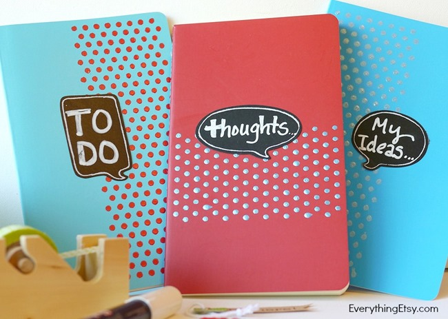 Quote Bubble Notebooks - Handmade GIft Idea - EverythingEtsy.com