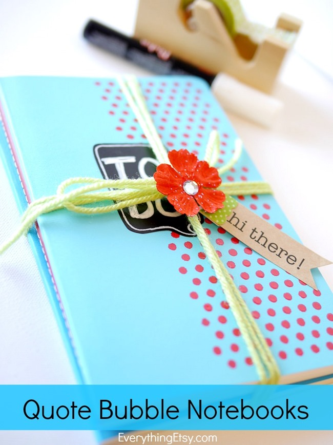 Quote Bubble Notebooks l Easy DIY Gift! l EverythingEtsy.com