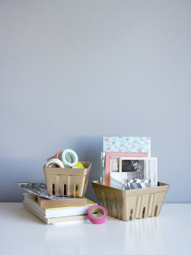 diy desk idea - basket