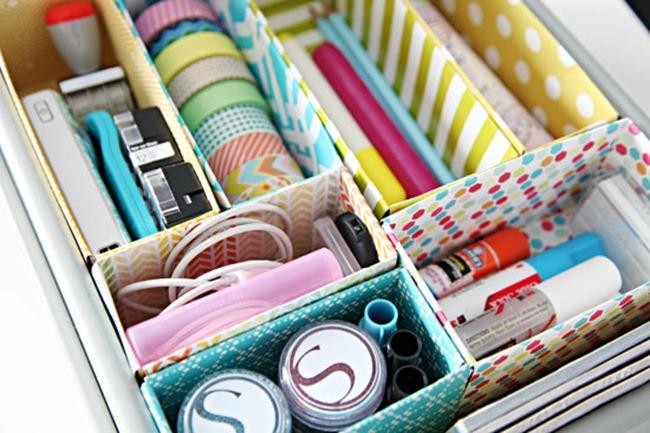 diy desk ideas - drawer