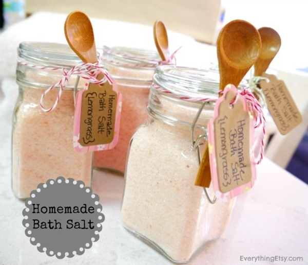 Great Gift Ideas For Mom Part - 24: Homemade-Bath-Salt-DIY-Gift-on-EverythingEtsy.com_