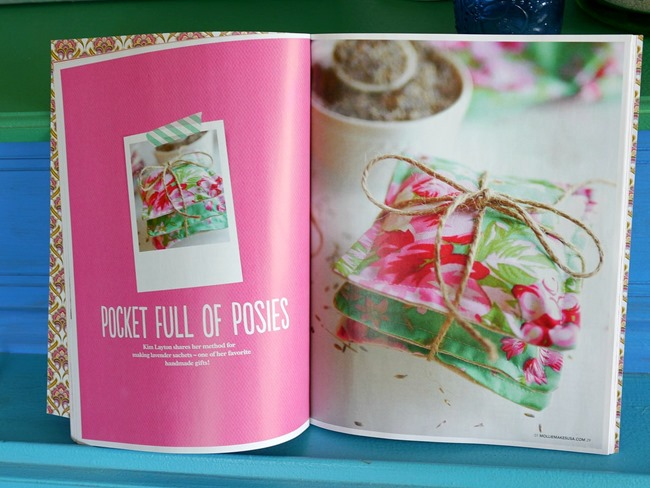 Lavender Sachet Tutorial in Mollie Makes Magazine - EverythingEtsy.com