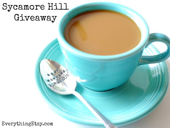 Sycamore Hill Giveaway on EverythingEtsy.com - Custom Hand Stamped Spoons