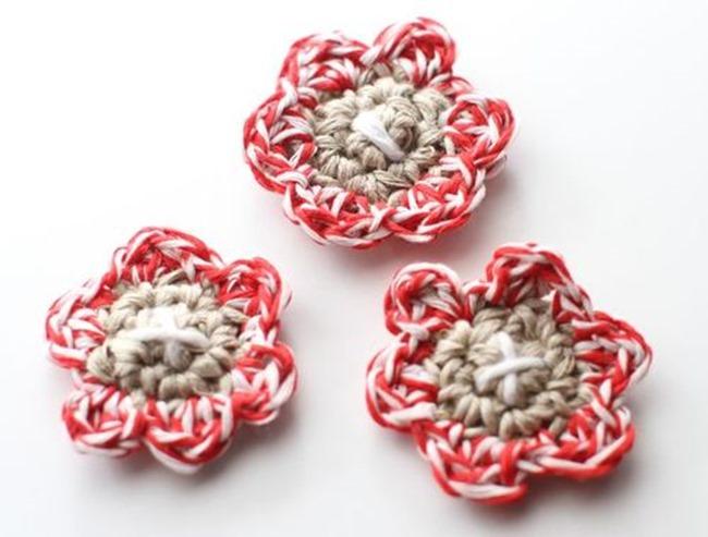 Twine crochet flower pattern