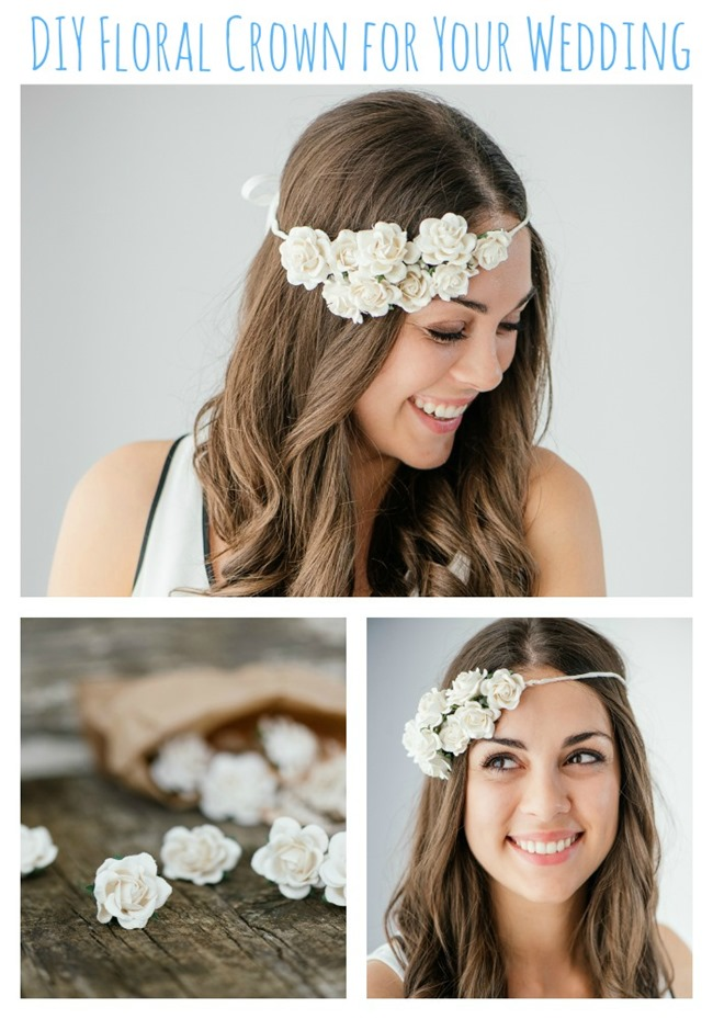 Easy DIY Floral Crown for Your Wedding {Guest Post by The Pretty