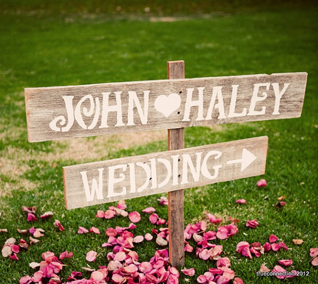 country wedding - handmade on etsy - custom signs