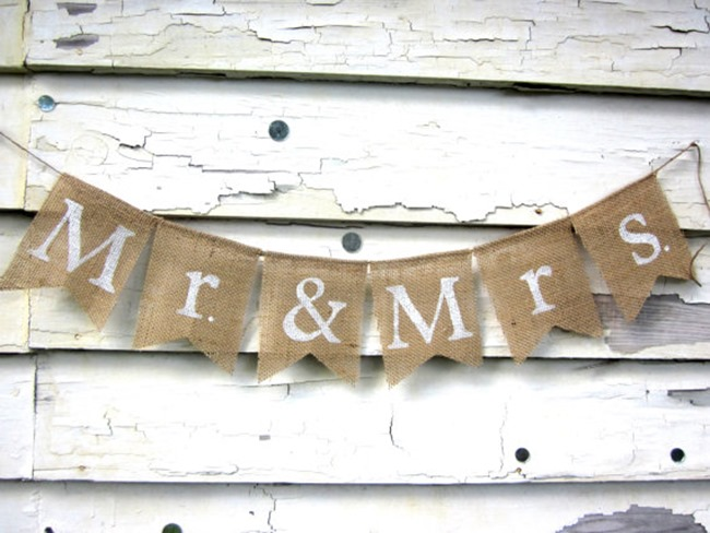 country wedding - handmade on etsy - mr and mrs