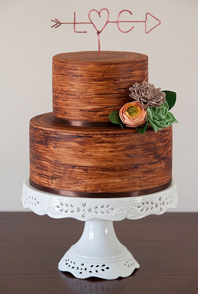 country wedding - handmade on etsy - rustic cake topper