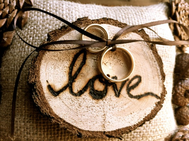 country wedding - handmade on etsy - rustic ring pillow