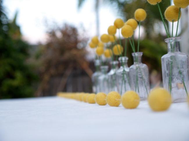 country wedding - handmade on etsy - yellow garland