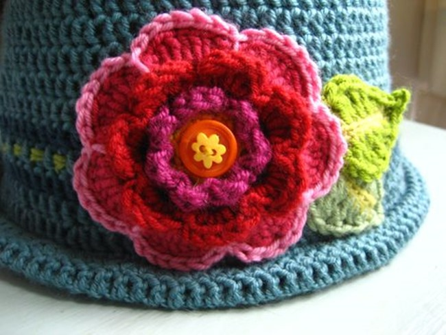 crochet flower pattern - attic 24