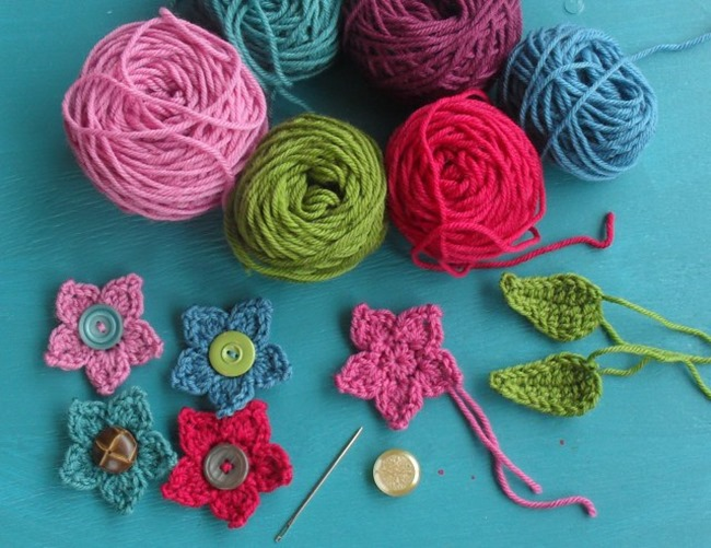 crochet flower pattern - colorful