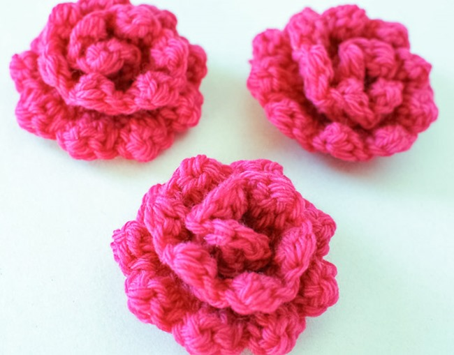 Crocheting Roses : crochet flower pattern - rose